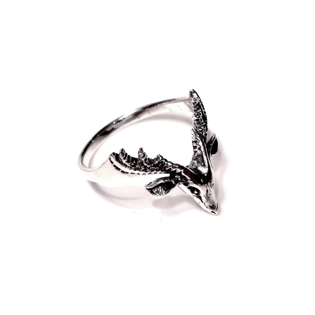 Deer And Antlers Ring, $28 | Sterling Silver | Light Years Jewelry
