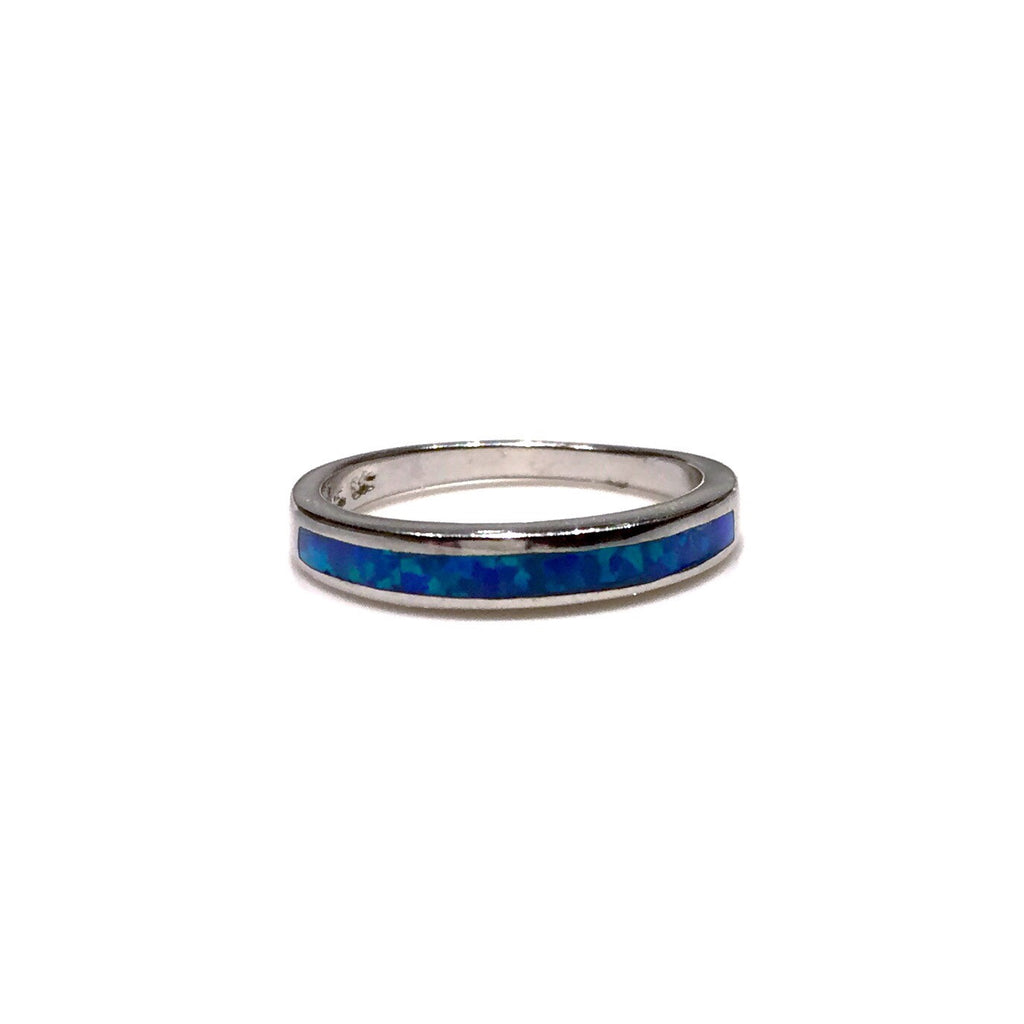 Opal Inlay Ring, $24 | Blue Opal | Sterling Silver | Light Years Jewelry
