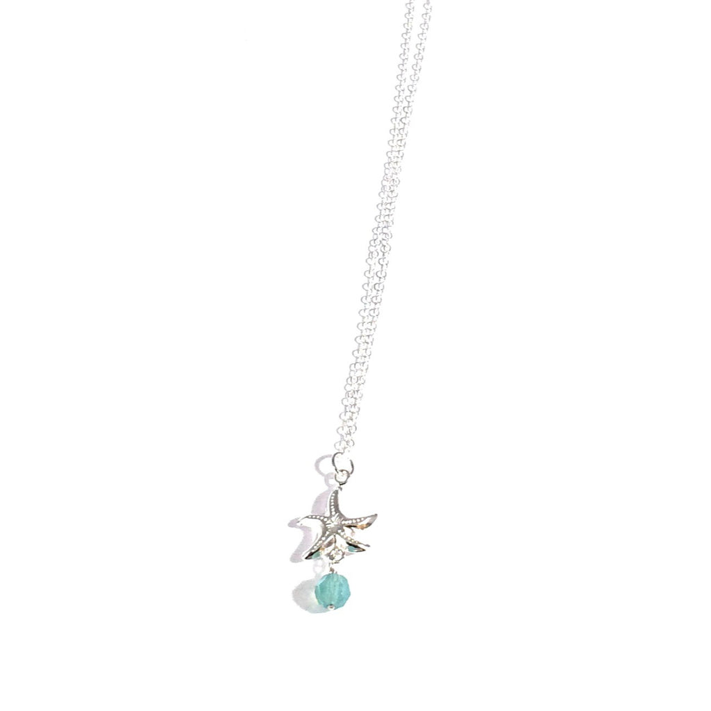 Silver Starfish & Pacific Opal Crystal Necklace, $28 | Light Years Jewelry