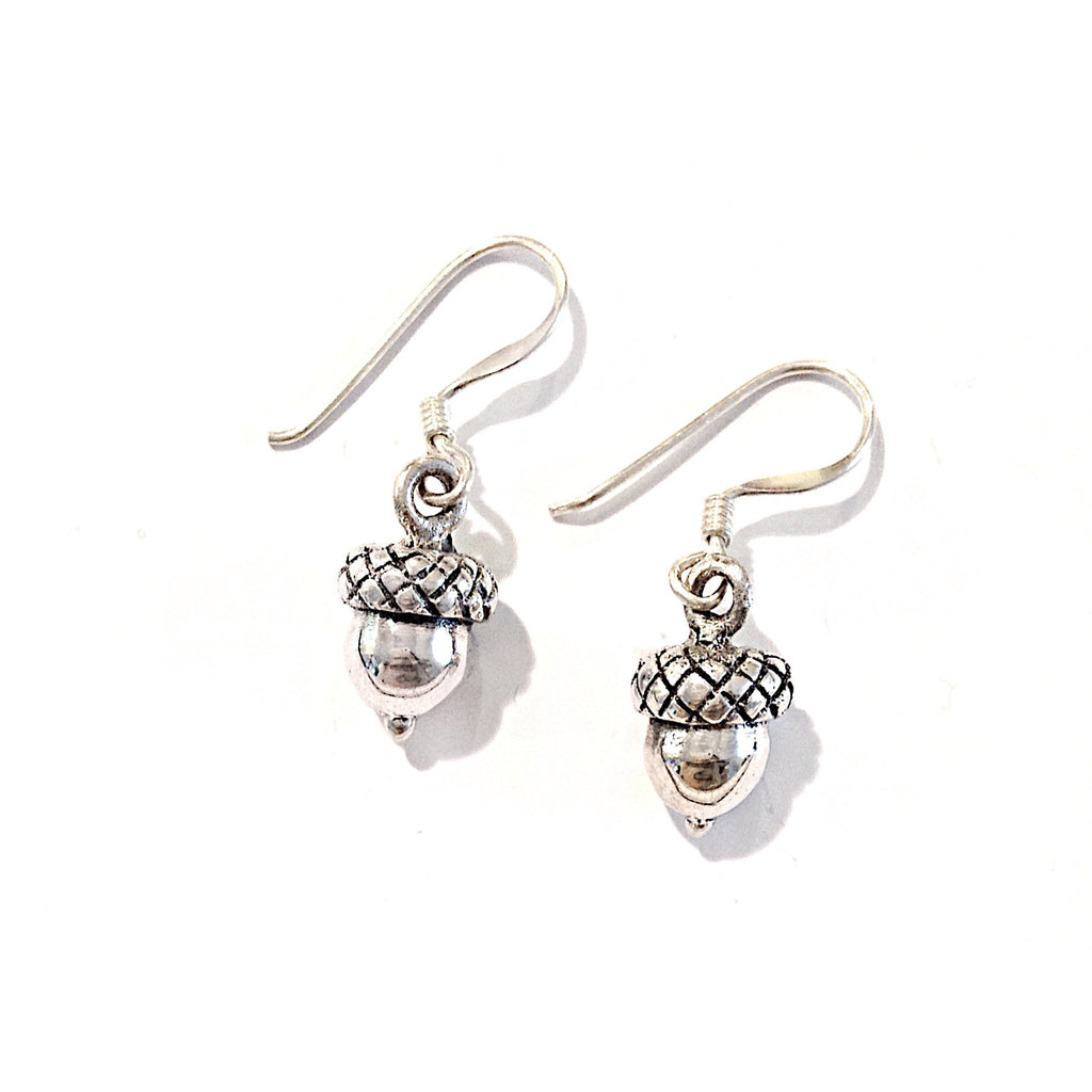 Acorn Drop Earrings $18 | Sterling Silver Dangles | Light Years Jewelry