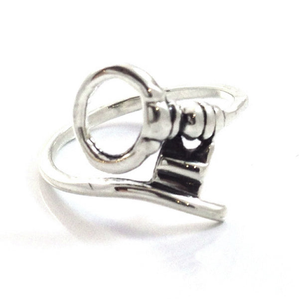 Silver Wrapped Key Ring, $12 | Sterling Silver | Light Years Jewelry