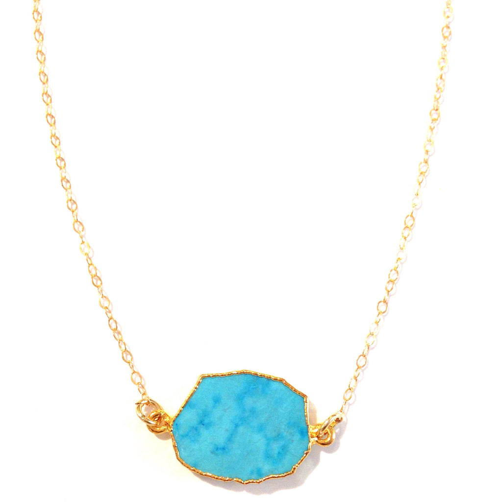 Blue Druzy Necklace, $34 | 14kt Gold-Filled | Light Years Jewelry