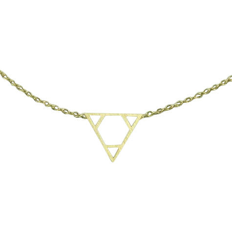 Gold Triangle Necklace, $22 | Gold Plated Chain | Light Years Jewelry