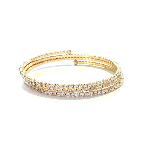 Sparkly Memory Wire Fashion Wrap Bracelet, $18 | Gold | Light Years Jewelry