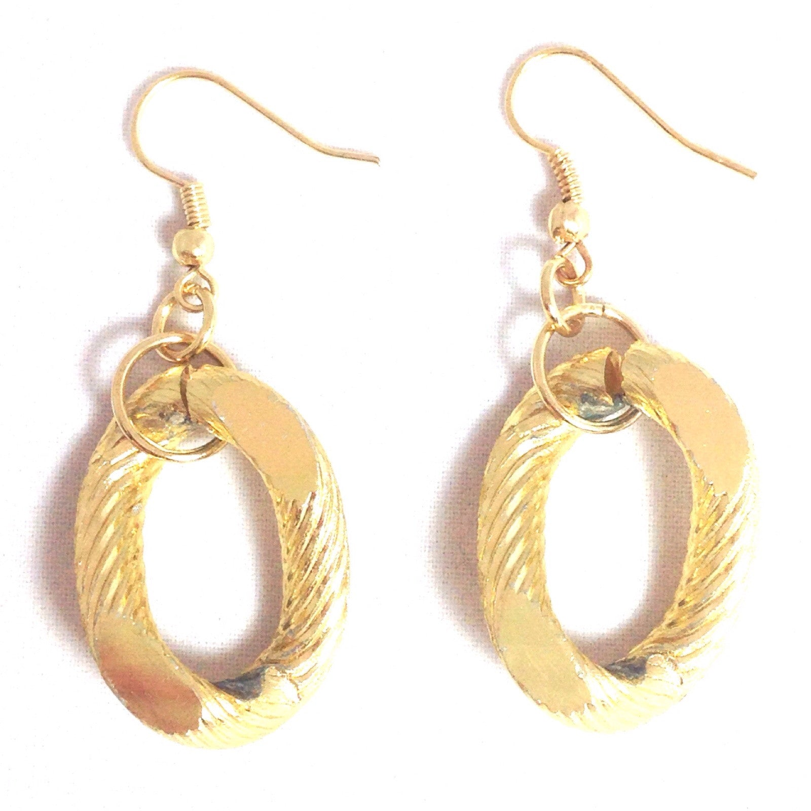 Threaded Chain Dangles, $7 | Fashion Gold Earrings | Light Years Jewelry