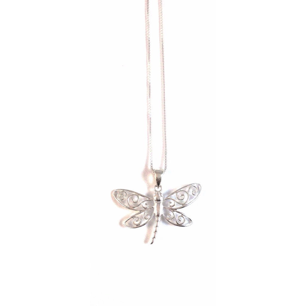 Swirly Dragonfly Necklace $28 | Sterling Silver | Light Years Jewelry