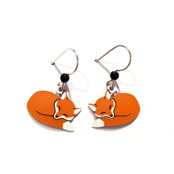 Sleeping Red Fox Earrings, $15 | Sterling Silver | Light Years Jewelry