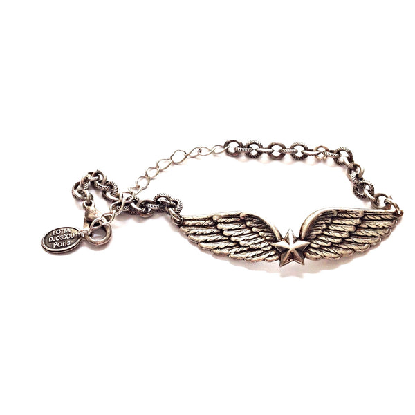 Antique Parisian Winged Star Bracelet