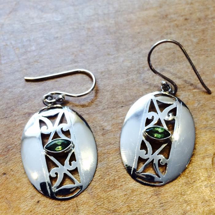 Filigree Earrings & Peridot, $36 | Sterling Silver | Light years Jewelry