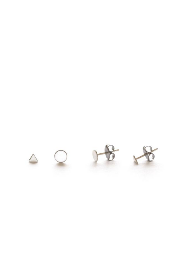 Geometric Stud Combination Set | Silver or Gold Post | Light Years