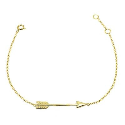 Arrow Bracelet, $14 | Vermeil or Sterling Silver | Light Years Jewelry