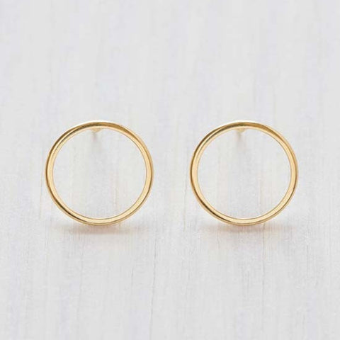 Modern Circle Posts by Amano, $18 | Gold | Light Years Jewelry
