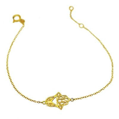 Hamsa Bracelet, $14 | Choice of Gold or Silver | Light Years Jewelry