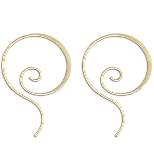 Swirl Hoop Earrings | Niobium Sterling Silver Gold Filled | Light Years