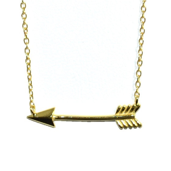 Gold Arrow Necklace, $17 | Gold Vermeil | Light Years Jewelry