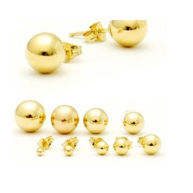 Gold Ball Posts, 2mm-8mm, $6-$12 | Stud Earring | Light Years Jewelry
