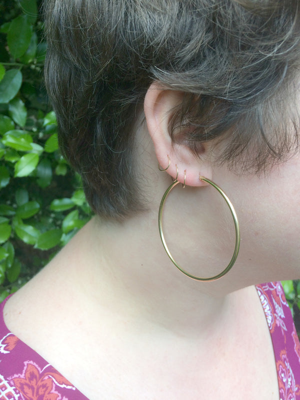 Thick Gold-Filled Endless Hoops