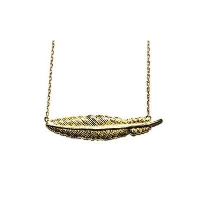 Gold Feather Necklace, $27 | Vermeil Chain | Light Years Jewelry