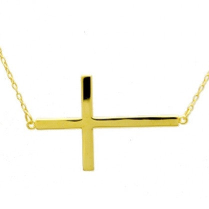 Gold Sideways Cross, $18 | Vermeil Chain | Light Years Jewelry