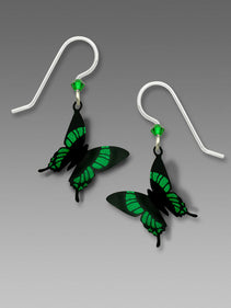 Green Butterfly Earrings by Sienna Sky