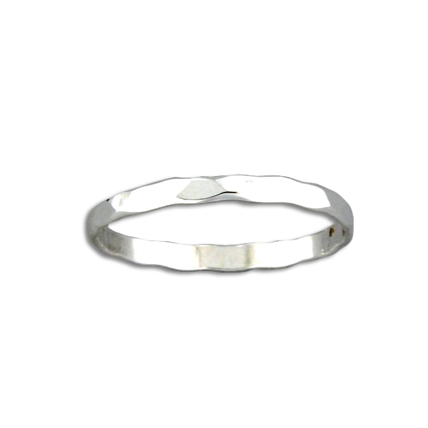 Hammered Band Ring | Sterling Silver Size 6 7 8 9 | Light Years Jewelry