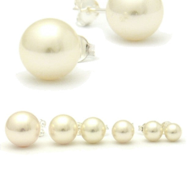 Freshwater Pearl Posts, $7-$11 | Sterling Silver Stud Earrings | Light Years Jewelry