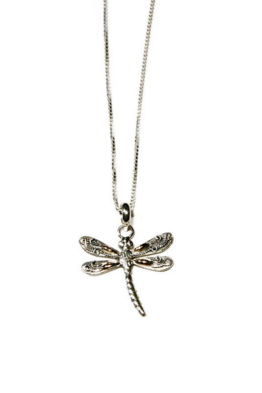 Multimetal Dragonfly Necklace