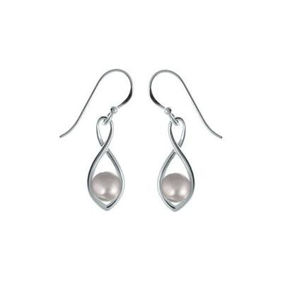 Infinity Pearl Earrings, $24 | Sterling Silver | Light Years Jewelry