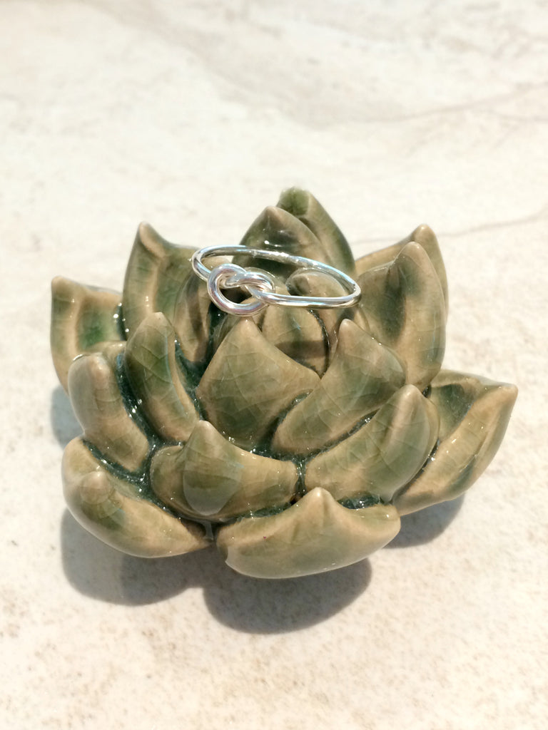 Single Knot Ring | Sterling Silver Size 5 - 11 | Light Years Jewelry
