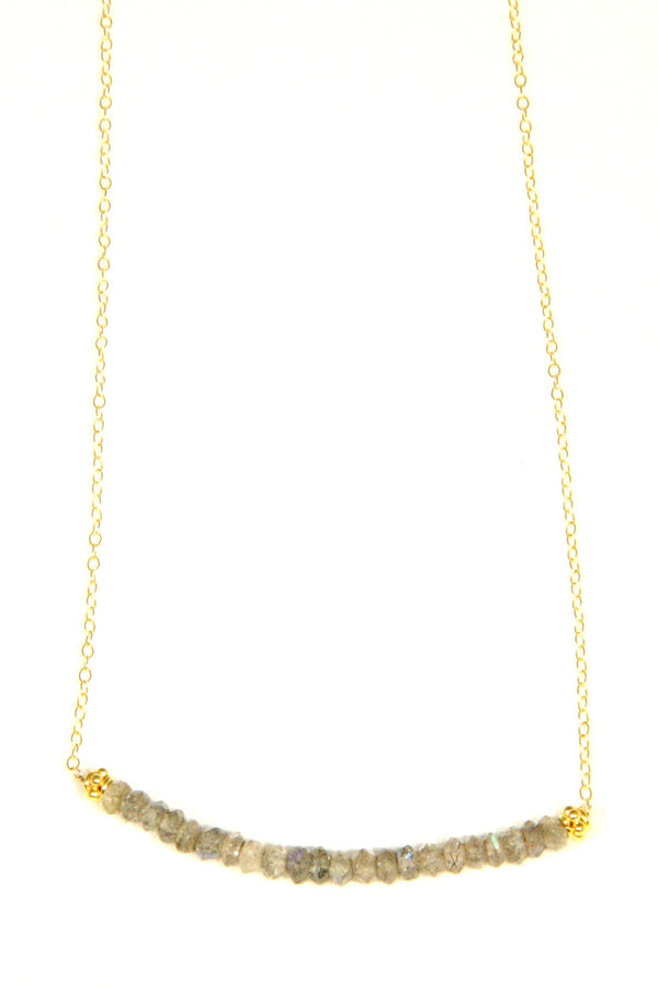 Gold-Filled Labradorite Row Necklace, $40 | Light Years Jewelry