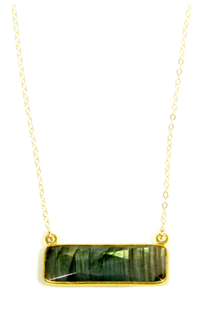 Gold Filled Labradorite Slab Necklace, $40 | Light Years Jewelry