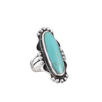 Long Turquoise Ring, $26 | Sterling Silver | Light Years Jewelry