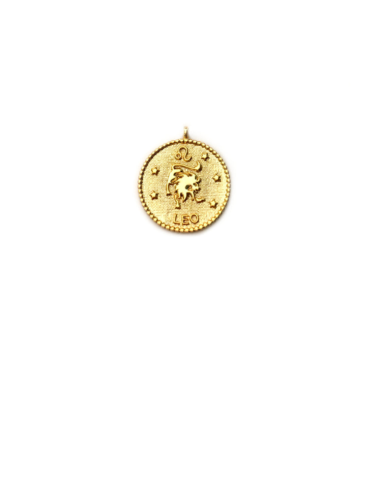 Zodiac Medallion Necklace | Leo | Gold Plated Chain Pendant | Light Years