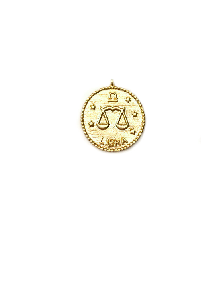 Zodiac Medallion Necklace | Libra | Gold Plated Chain Pendant | Light Years