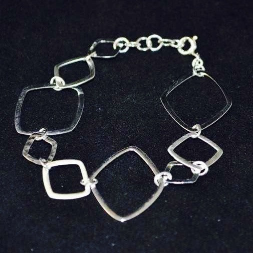 Linked Diamond Bracelet, $46 | Sterling Silver | Light Years Jewelry