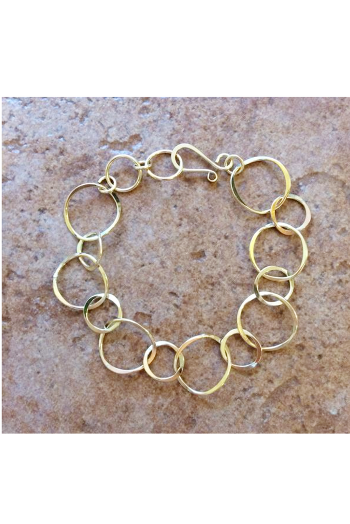 Linked Circle Bracelet | Sterling Silver Gold Filled | Light Years