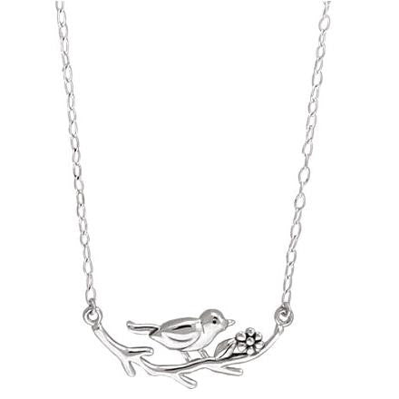 Little Bird on Branch Necklace, $34 | Sterling Silver | Light Years