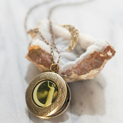 Beijo Brasil Paper Moon Locket, $20 | Brass Pendant | Light Years Jewelry