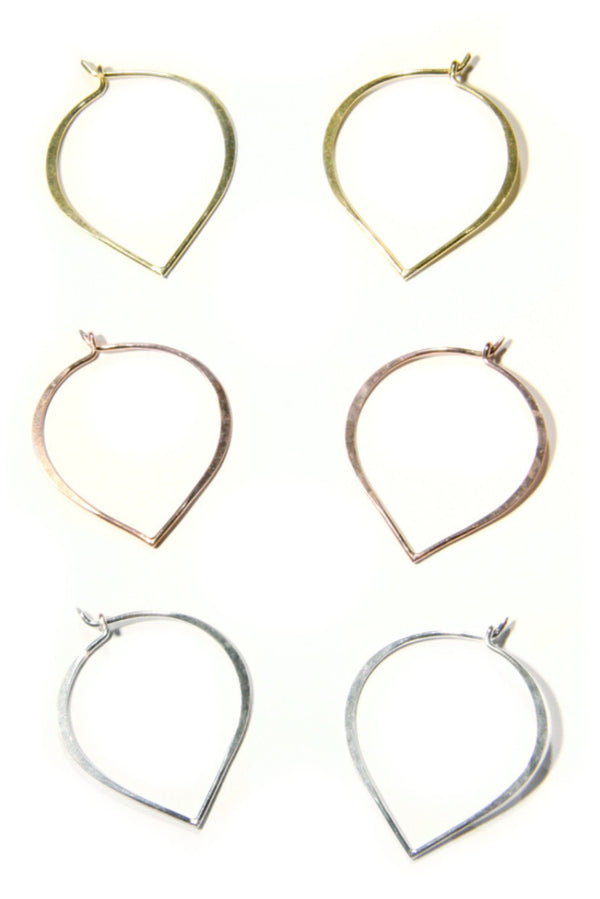 Lotus Petal Hoops | Silver, Gold, Rose Gold | Light Years Jewelry