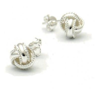 Love Knot Posts with Border, $9.50-$12 | Sterling Silver Stud Earrings | Light Years