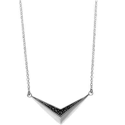 Sterling Silver Marcasite Chevron Necklace, $38 | Light Years Jewelry