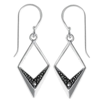 Sterling Silver Marcasite Chevron Dangles, $23 | Light Years Jewelry