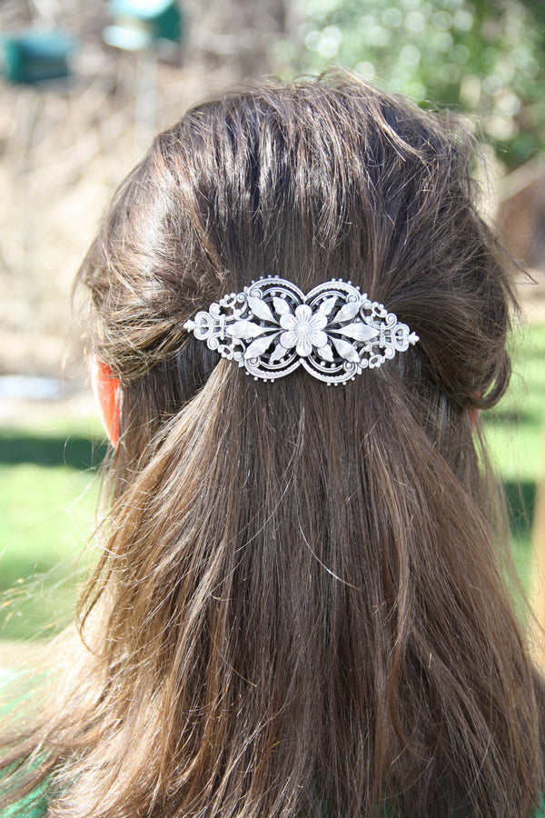 Floral Filigree Barrette