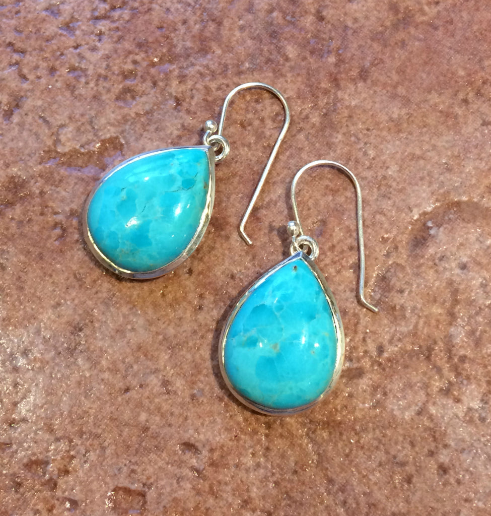 Mohave Turquoise Dangles, $50 | Sterling Silver | Light Years Jewelry