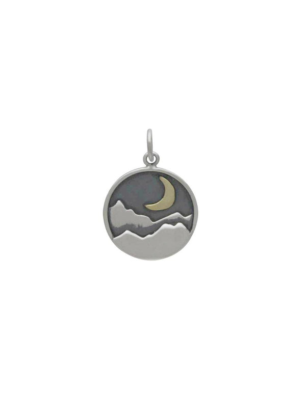 Mountain Moon Necklace | Sterling Silver Chain | Light Years Jewelry