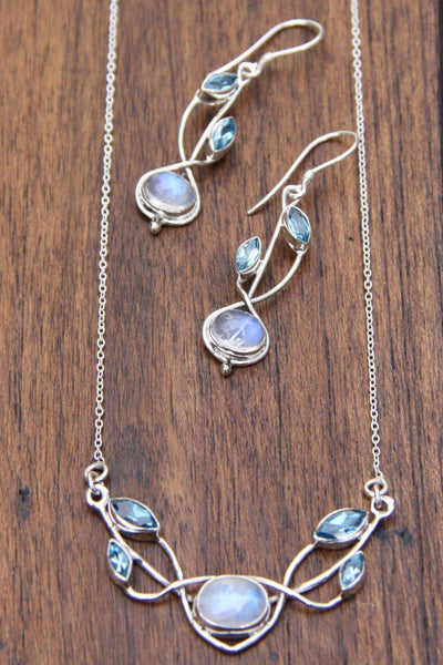 Gemstone Vine Necklace