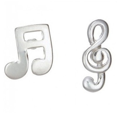 Music Note Posts, $11 | Sterling Silver Earrings | Light Years Jewelry
