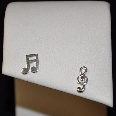 Music Posts, $11 | Sterling Silver Stud Earrings | Light Years Jewelry