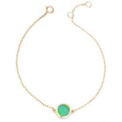 Rose Gold Vermeil Opal Disc Bracelet, $19 | Light Years Jewelry