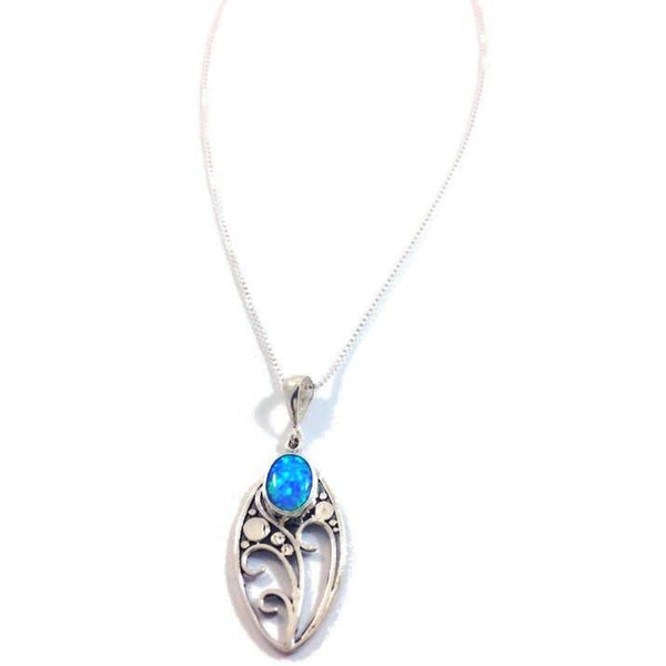 Blue Opal Necklace, $28 | Sterling Silver | Light Years Jewelry